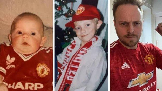 Architects frontman Sam Carter in United kits down the years
