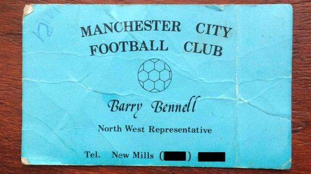 Barry Bennell calling card