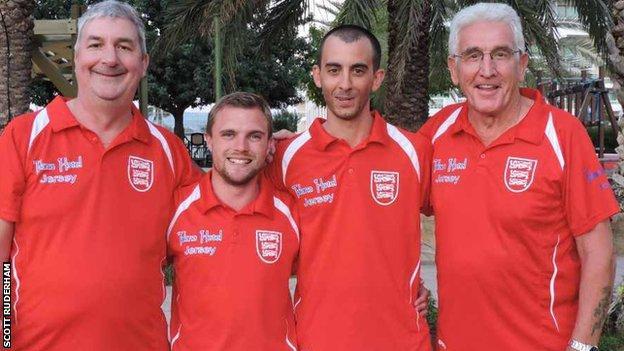 Jersey's men's fours bowls team