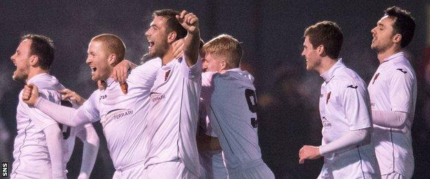 East Kilbride celebrate their fourth-round victory