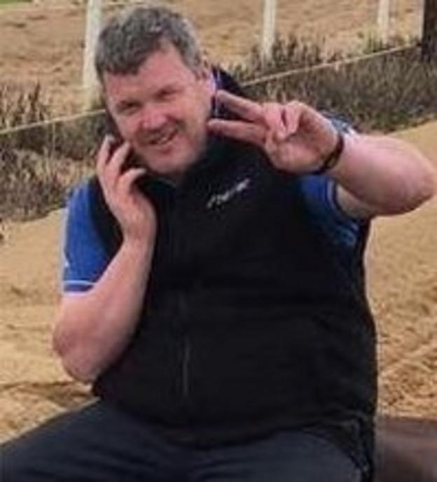An edited version of an image of Gordon Elliott released by the Irish Horseracing Regulatory Board