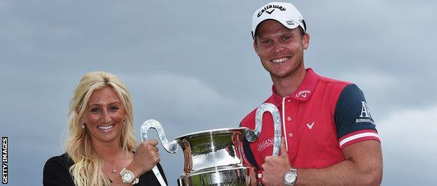 Danny Willett and wife Nicole