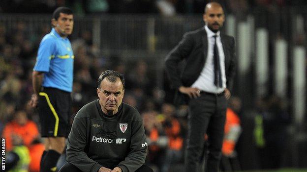 Marco Bielsa and Pep Guardiola