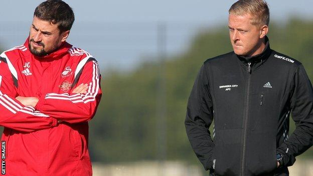 Pep Clotet and Garry Monk