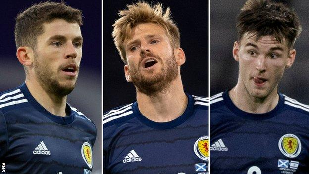 Ryan Christie, Stuart Armstrong & Kieran Tierney  Scotland v Israel: Armstrong, Tierney & Christie out after positive Covid test| Daily's Flash  114800576 fotojet  Scotland v Israel: Armstrong, Tierney & Christie out after positive Covid test| Daily's Flash  114800576 fotojet