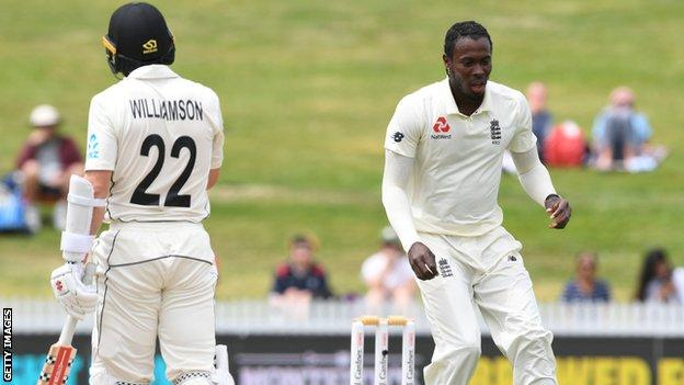 Jofra Archer and Kane Williamson