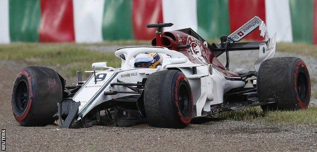Marcus Ericsson during the race