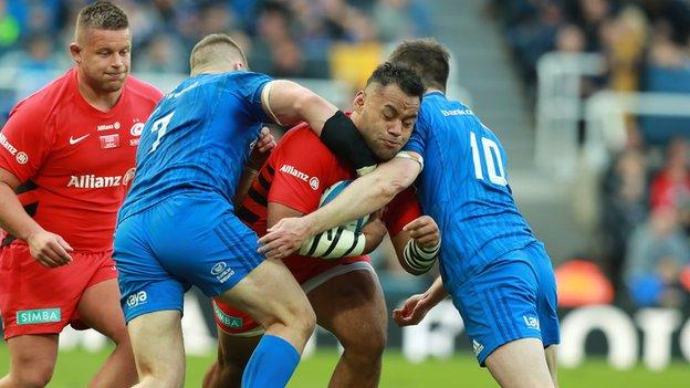 Leinster and Saracens in European action