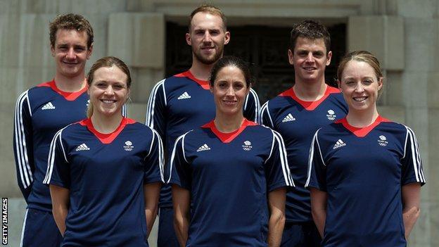 Te British triathlon team for the Rio Olympics
