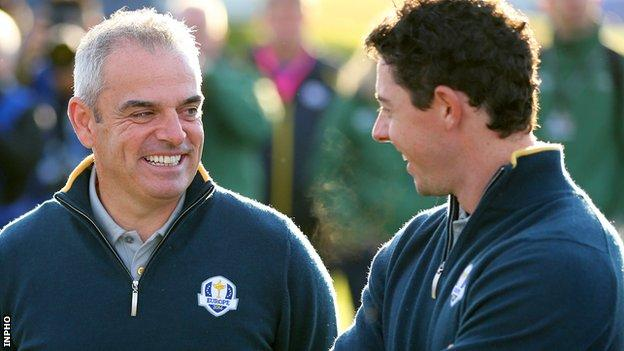 Paul McGinley hinted Rory McIlroy's position on competing at the Olympics 'changed' in the last 10 days