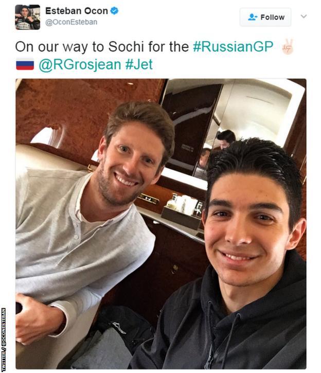 Romain Grosjean and Esteban Ocon