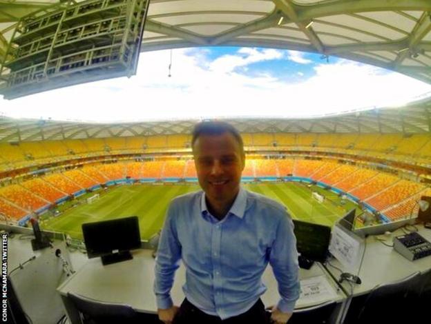 Conor McNamara at the 2014 World Cup in Brazil