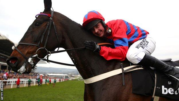 Sprinter Sacre with jockey Nico de Boinville
