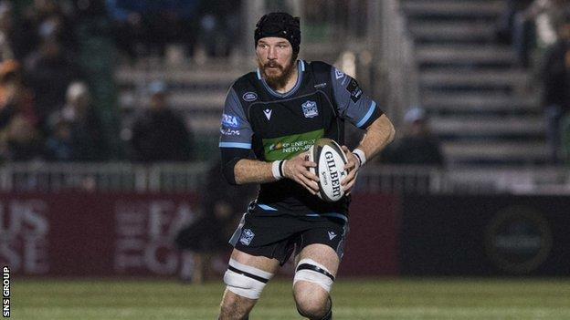 Swinson played over 100 times for Glasgow