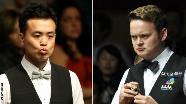 Marco Fu and Shaun Murphy