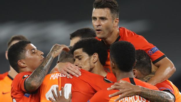 Shakhtar Donetsk 4-1 FC Basel: Ukrainians book Europa League semi with Inter Milan - bbc