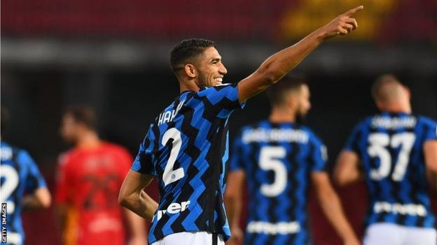 Achraf Hakimi Inter Milan Is Perfect Fit For Morocco Full Back Bbc Sport