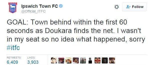 Ipswich's Twitter account