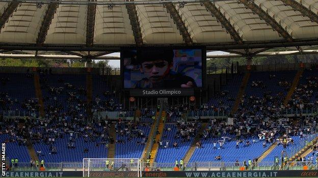 Empty seats at Stadio Olimpico