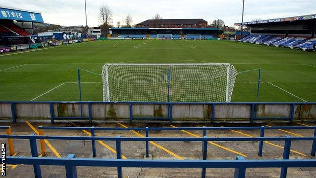 General view of Macclesfield's Moss Rose ground