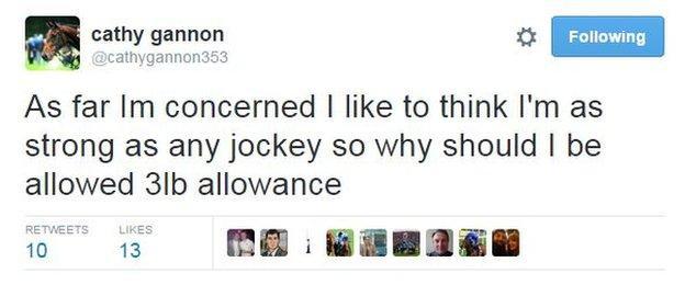 Jockey Cathy Gannon