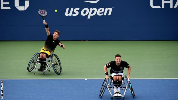 Alfie Hewett and Gordon Reid at the 2019 US Open