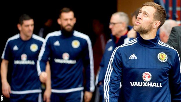 Scotland player Steven Whittaker