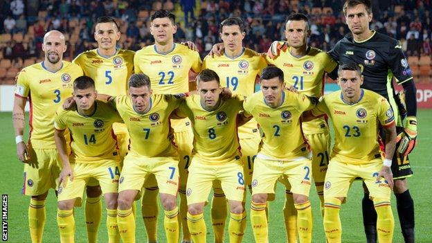 Romania team photo