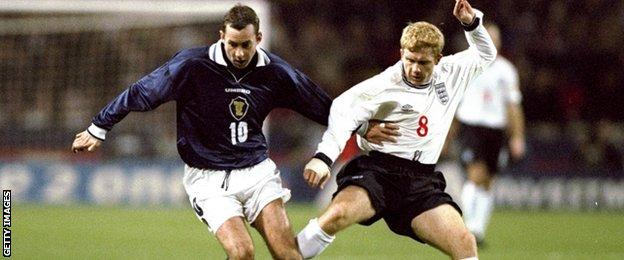 Scotland and England last met competitively in 1999