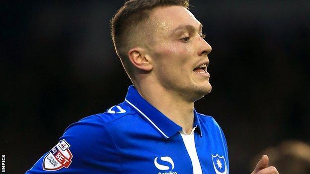 Portsmouth loanee striker Caolan Lavery