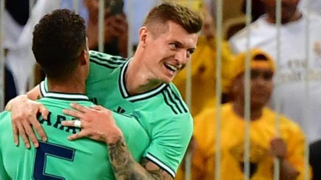 Valencia 1-3 Real Madrid: Zinedine Zidane's side reach Spanish Super Cup final thumbnail