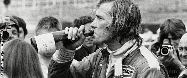 Former McLaren F1 driver James Hunt