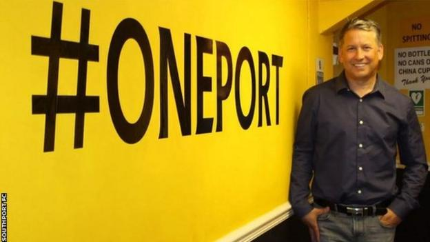 Southport manager Liam Watson