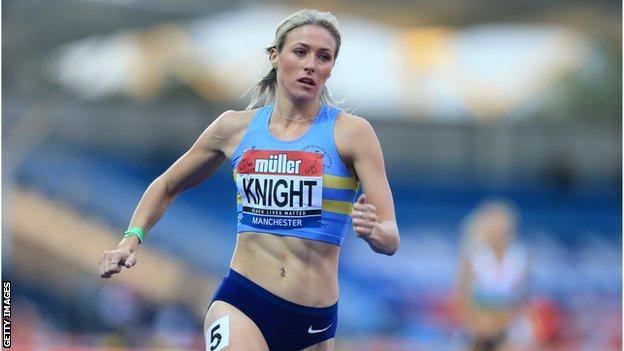 Jessie Knight running