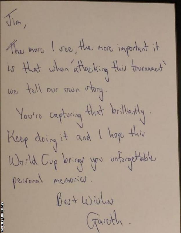 Jim Lucas Southgate letter