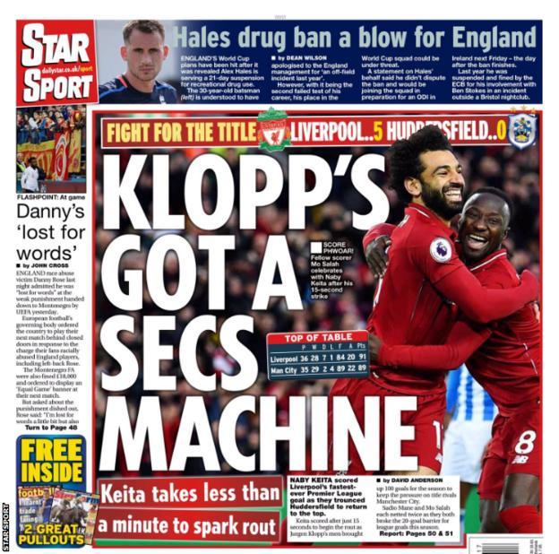 Saturday's Star Sport