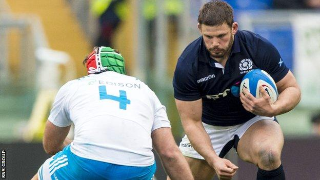 Ross Ford in action against Italy