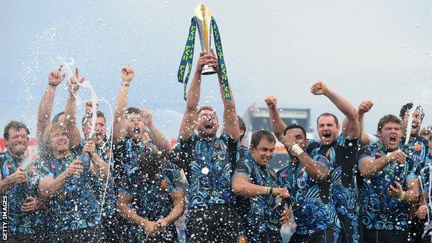 Exeter celebrate Anglo-Welsh Cup win