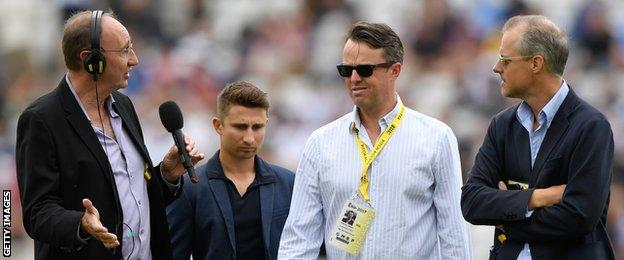 Jonathan Agnew, James Taylor, Graeme Swann and Ed Smith