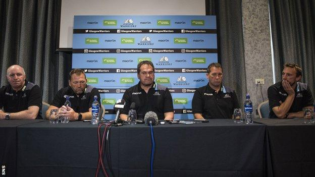 Glasgow Warriors coaching team