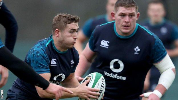 Jordan Larmour and Tadhg Furlong will both attend Ireland's training camp later this week despite picking up knocks in the win over Italy