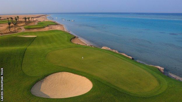 environment A hole at the Royal Greens Golf Club, near Jeddah