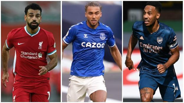 Mohamed Salah (Liverpool), Dominic Calvert-Lewin (Everton), Pierre-Emerick Aubameyang (Arsenal)