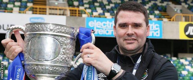 Healy has won two Irish Premiership titles since taking over as Linfield boss in 2015