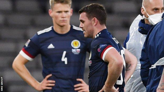 John Fleck was injured while winning his fourth cap for Scotland