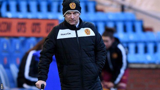 Motherwell head coach Eddie Wolecki Black