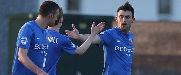 Glenavon scored twice in the first half to take charge against Coleraine