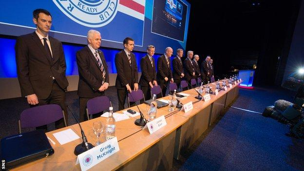 Rangers' board gathers at Clyde Auditorium