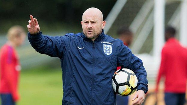 Carsley at an England Under-21s training session