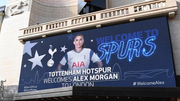 Alex Morgan poster in Leicester Square